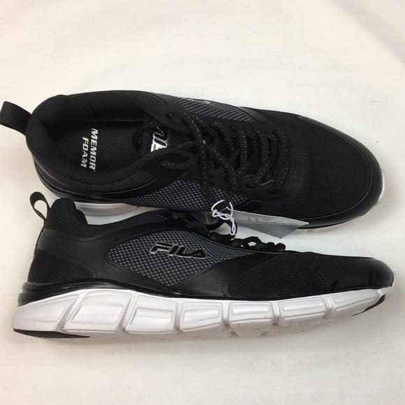 Fila Men's Steel Sprint Black Athletic Shoes NWT